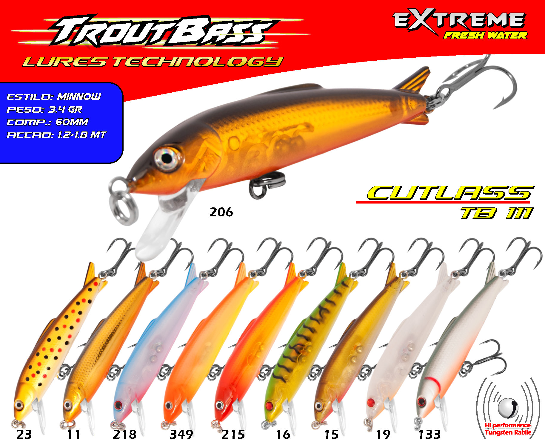 Troutbass Cutlass TB 111