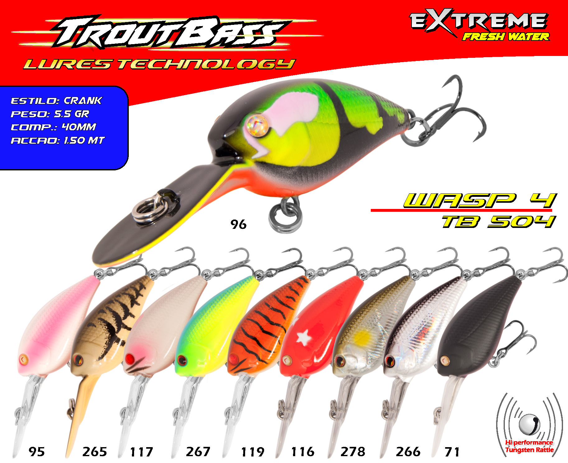 Troutbass Wasp 4 TB 504