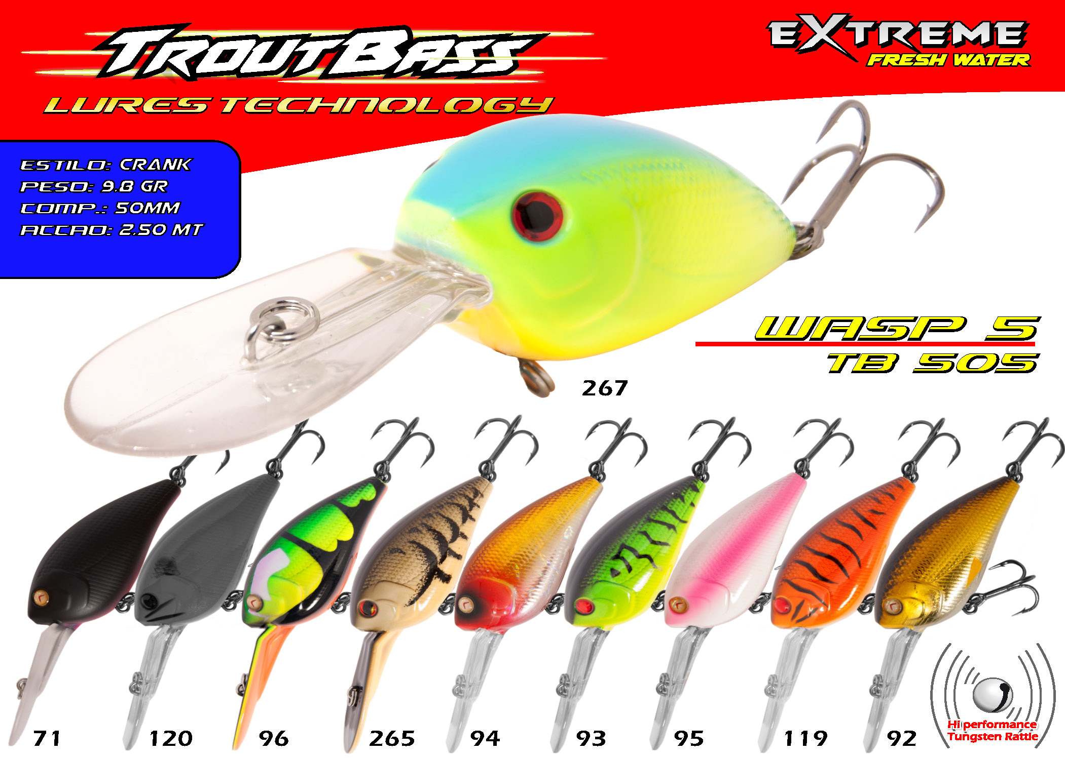 Troutbass Wasp5 TB 505