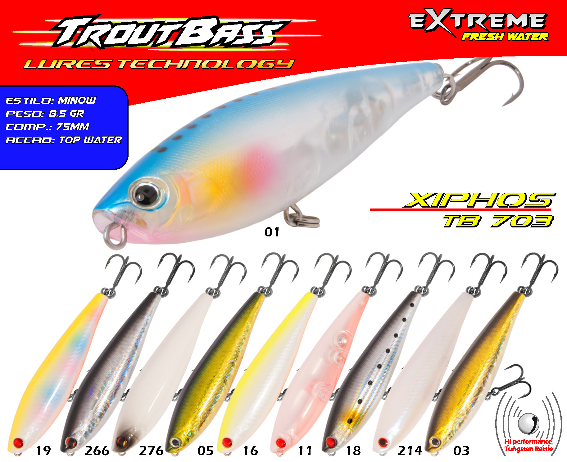Troutbass Xiphos TB 703