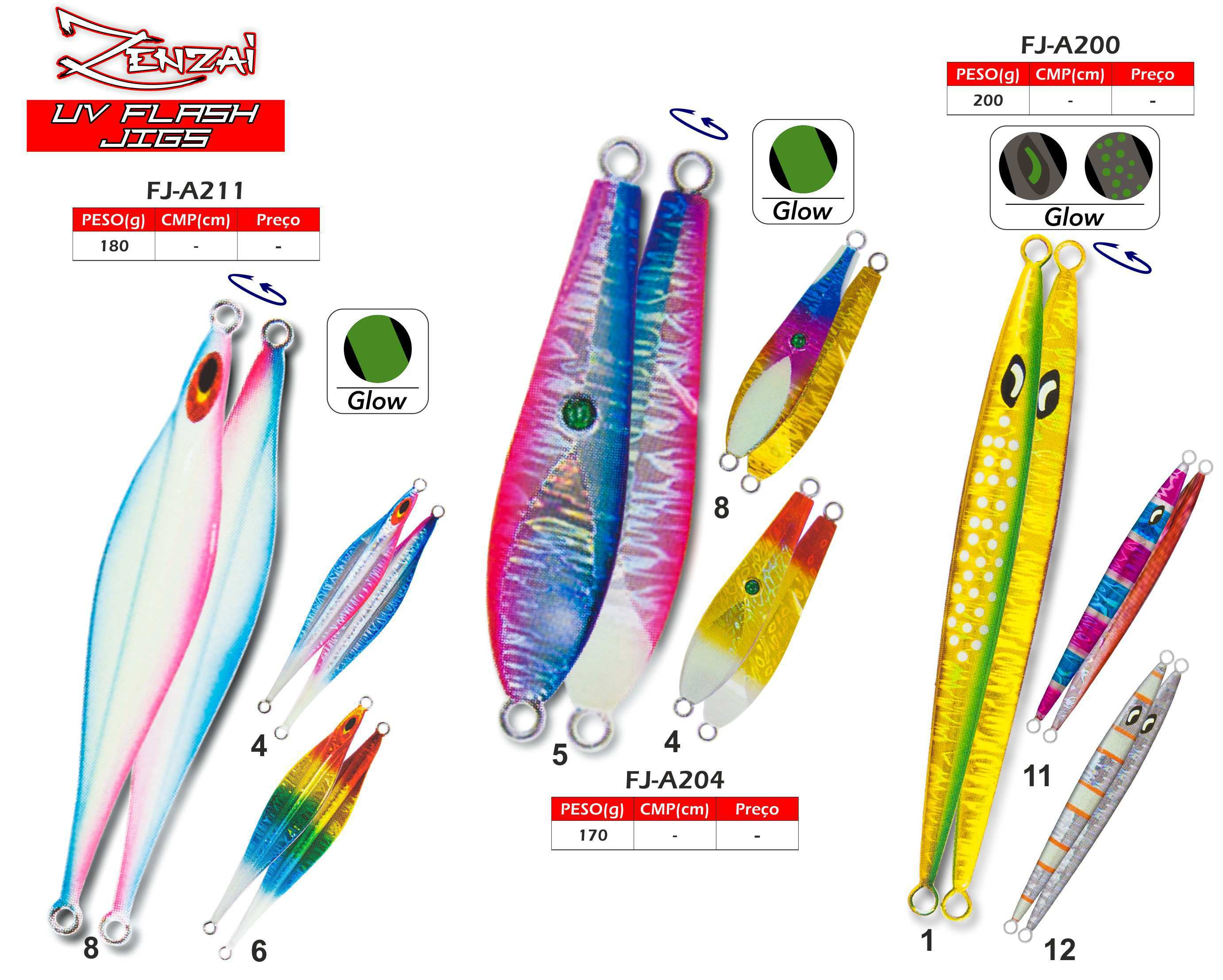 Zagaias Zenzai Slow Jigs UV FLASH