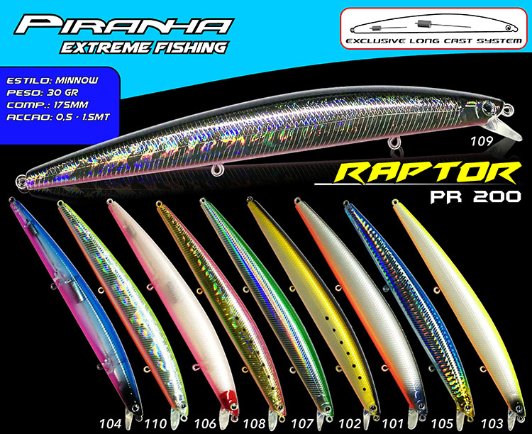Amostra Piranha RAPTOR 175mm
